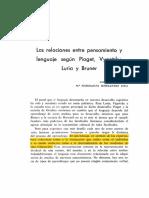 05 Las relaciones entre pensamiento segun Piaget Vygotsky bruner.pdf