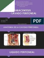 Paracentesis Lavado peritonial Diapositiva