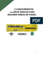 Guía Conocimientos Teorícos Básicos Para Inscribir Armas de Fuego