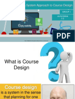 approach to course design