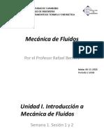 Mecanica de Fluidos UC Profesor Rafael Benitez Parte I. (Version 20 11 2018)