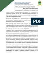 Evaluacion de Los Ecosistemas Del Milenio