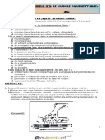 Série d Exercices SVT Sur Le Muscle Squelettique Pour Bac Sciences