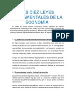 Las Diez Leyes Fundamentales de La Economía