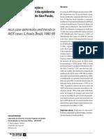 Critérios de notificação e tendência temporal da epidemia de AIDS no Estado de São Paulo, 1980-9
