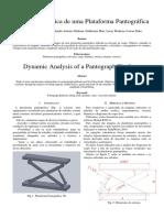 Análise Dinâmica de Uma Plataforma Pantográfica