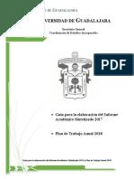 Guia Del Informe Academico Sintetizado y Plan Anual de Trabajo 2018