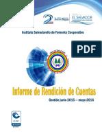 Informe de Rendicion de Cuentas Junio 2015-Mayo 2016 Version Final