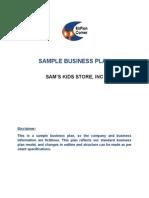 RetailKidswearstorebusinessplanpdf T Shirt Business Plan - Retail store business plan template