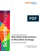 Microbial Interactions 2018 Sceintific Program