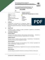 Sílabo Legislacion y Normatividad Eléctrica