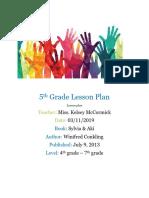 5th grade lesson plan - edu 280-1