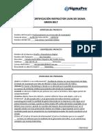 Apertura de Proyecto Project Charter 1 Evidencia 1