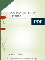 Landasan Teori Dan Hipotesis Kelompok 7 Ptk