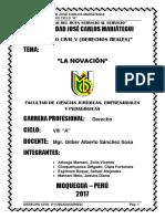 Monografia de La Novación