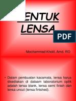 1. BENTUK LENSA