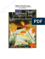 Ultima 4 the Quest of the Avatar Walkthrough