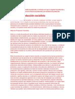Medio de Producción Socialista y Taylorismo