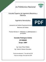 """Practica 2 Mecánica de sólidos """"esfuerzos y deformaciones principales"""""""
