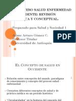 El Proceso Salud Enfermedad en Occidente. Revision Historica
