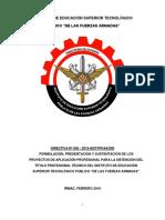 Directiva Para La Obtención Del Título Profesional Técnico IESTPFFAA