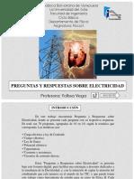 Preguntas y Respuestas Sobre Electricidad