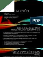 La Unión 6J Descolonización y Tercer Mundo