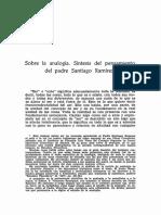 Sobre la Analogía. Síntesis del Pensamiento del Padre Santiago Ramirez - Alejandro del Cura.pdf