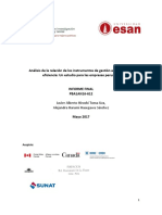 Analisis de La Relacion de Los Instrumentos de Gestion Ambiental y La Eficiencia