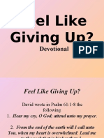 Feel Like Giving Up (Devotional)