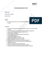 Full Stack Developer JAVA Job Oriented Program SEED