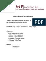 Gerencia de Servicio de Salud Seminario 3