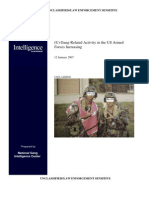 FBI report on gangs in the military