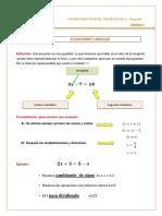 Hoja de Teoría Ecuaciones Lineales