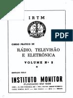 CURSO PRÁTICO DE RÁDIO, TELEVISÃO E ELETRÔNICA. Volume 2
