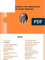 Aprendizaje Por Observación Según Albert Bandura