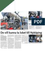 De vill kunna ta loket till Nyköping