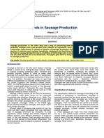 Trends in Sausage Production