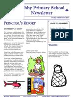 November 3, 2010 Ashby Primary School Newsletter