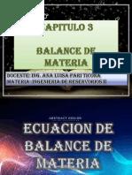 Presentacion 6 Balance de Materia