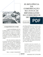 A Influência Da Comunicação Na Busca de Informações Do Consumidor de Varejo
