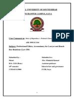 Case Comment S Professional Ethics-converted