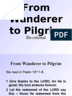 From Wanderer to Pilgrim (Devotional)