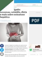 Gordura no fígado sintomas, graus, remédios, dieta e mais