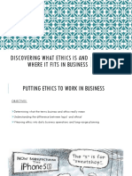 Chapter 1 Discovering What Ethics Is and Where It Fits in Business