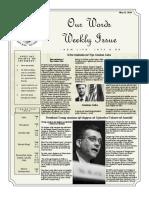 Newsletter Volume 10 Issue 17