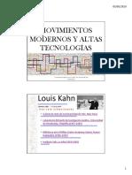 Movimientos Modernos y Altas Tecnologíasdra.luisamaría Velasquez