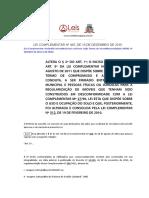 Lei Complementar 445 2015 de Joinville SC