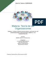 UNIDAD3. BASES CONCEPTUALES PARA EL ESTUDIO DE LAS ORGANIZACIONES COMO SISTEMA..docx