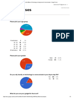 Survey on the Effects of Technology on Interpersonal Communication